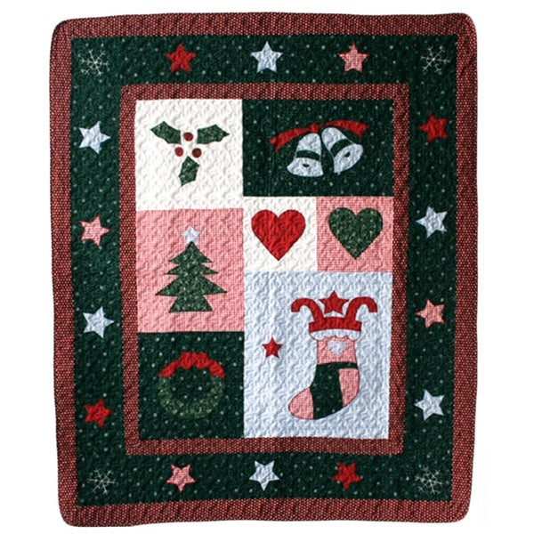 Christmas Night Quilted Throw - 50 x 60