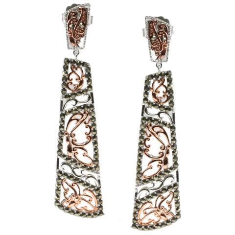 Dallas Prince Sterling Silver Marcasite Dangle Earrings