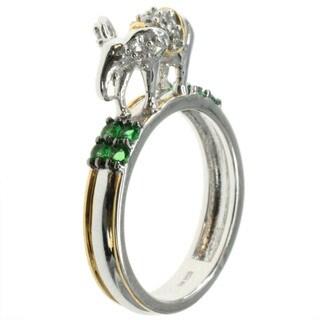 Michael Valitutti Medium 'Elephant' Stacking Cubic Zirconia Ring