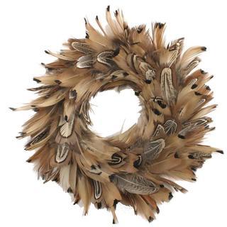 Handmade 8 Inch Pheasant Feather Wreath