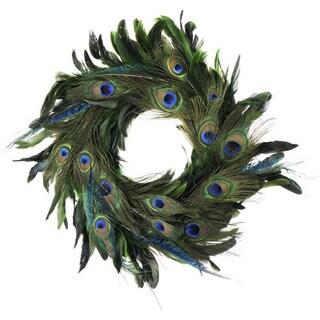 Handmade 18-inch Elegant Feather Holiday Wreath