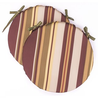 Dunes Club Burgundy Multi Stripe Bistro Cushions (Set of 2)