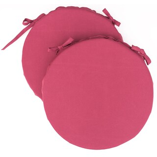 Dunes Club Raspberry Pink Solid Bistro Cushions (Set of 2)