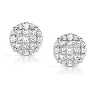 Eloquence 14k White Gold 1 2/5ct TDW White Diamond Stud Earring (H-I, I1-I2)