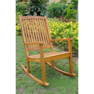 International Caravan Royal Fiji Acacia Hardwood Rocking Chair