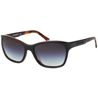 Emporio Armani Women's Black Havana Plastic Sunglasses