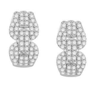 Eloquence 14k White Gold 1 2/5ct TDW White Diamond Dangle Earrings (H-I, I1-I2)
