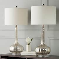 Abbyson Silver Mercury Antiqued Glass Table Lamp (Set of 2)