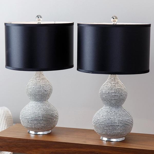 Abbyson Silvertone Sea Urchin Table Lamp (Set of 2) - Free ...