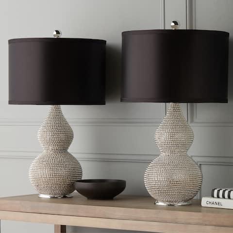 Silvertone Sea Urchin 26-inch Table Lamp (Set of 2) By Abbyson