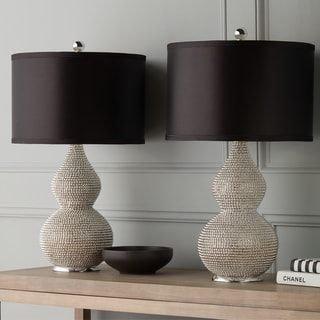 Abbyson Silvertone Sea Urchin Table Lamp (Set of 2)