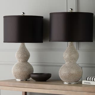 Living room table lamps for less overstock abbyson silvertone sea urchin table lamp set of 2 aloadofball Choice Image