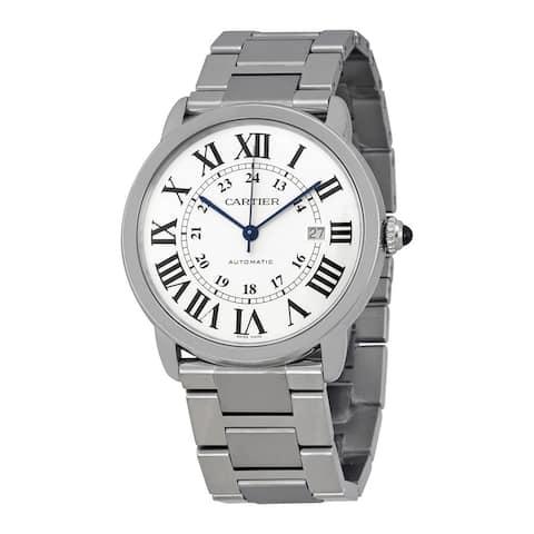 Cartier Men's W6701011 Ronde Solo Round Silvertone Bracelet Watch