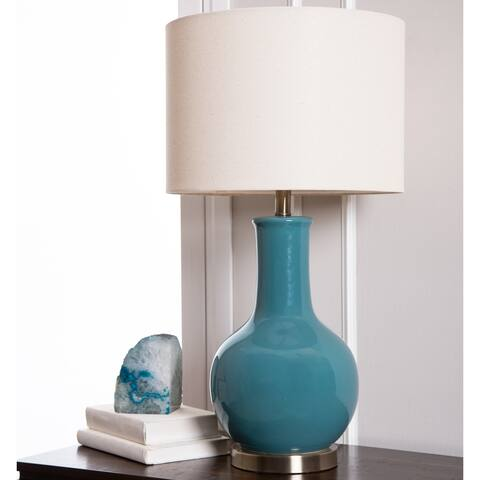 Abbyson Gourd Blue Ceramic 29-inch Table Lamp