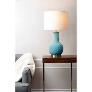 ABBYSON LIVING Gourd French Blue Ceramic Table Lamp