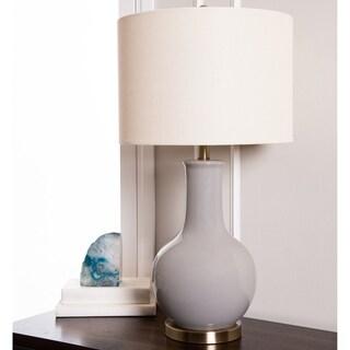 Abbyson Gourd Grey Ceramic Table Lamp