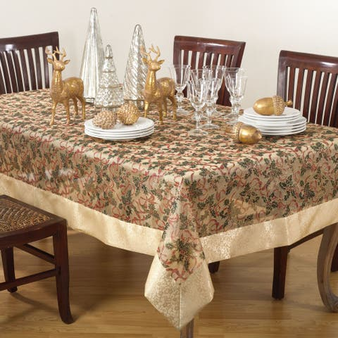 Printed Christmas Tablecloth
