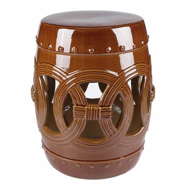 Cool Shop Abbyson Moroccan Brown Ceramic Garden Stool Free Machost Co Dining Chair Design Ideas Machostcouk