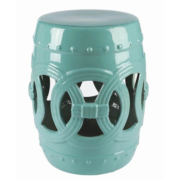 Superb Abbyson Moroccan Turquoise Garden Stool   Free Shipping Today    Overstock.com   16811333