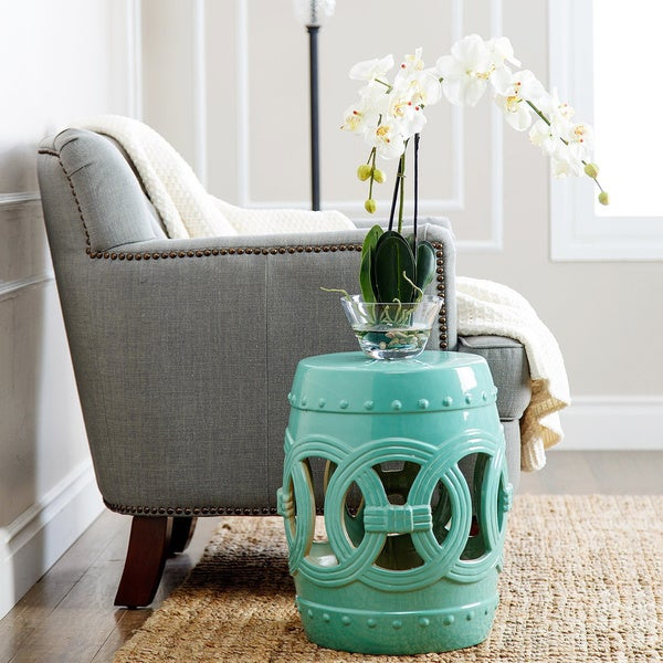 Abbyson Moroccan Turquoise Garden Stool Free Shipping Today