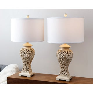 ABBYSON LIVING Fleur de Lis Table Lamp (Set of 2)