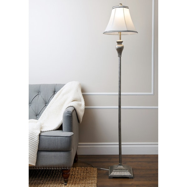 Abbyson Elena Silver Floor Lamp