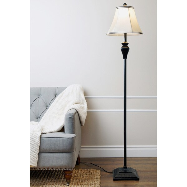 Abbyson Elena Ebony Floor Lamp
