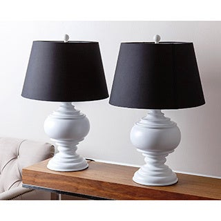Abbyson Burma White Table Lamp (Set of 2)