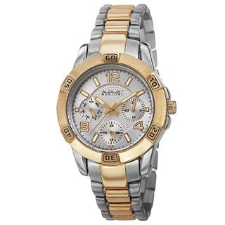August Steiner Men's Quartz Colorful Dial Multifunction Two-Tone Bracelet Watch