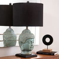 Abbyson Buddha Antique Lime Ceramic Table Lamp
