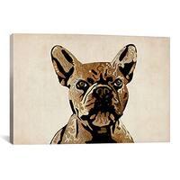 iCanvas Michael Thompsett French Bulldog Canvas Print Wall Art