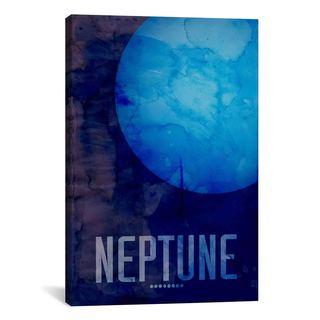 iCanvas Michael Thompsett The Planet Neptune Canvas Print Wall Art