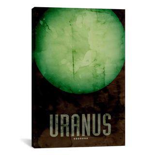 iCanvas Michael Thompsett The Planet Uranus Canvas Print Wall Art