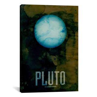 iCanvas Michael Thompsett The Planet Pluto Canvas Print Wall Art