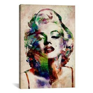 iCanvas Michael Thompsett Watercolor Marilyn Monroe Canvas Print Wall Art