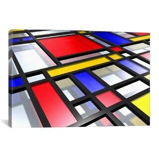iCanvas Michael Thompsett Abstract Mondrian Style Canvas Print Wall Art