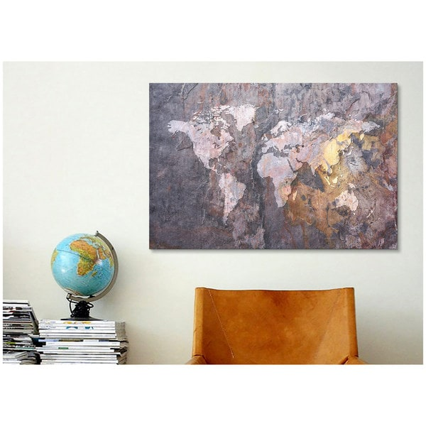 Icanvas michael thompsett world map on stone background canvas print icanvas michael thompsett world map on stone background canvas print wall art free shipping on orders over 45 overstock 16811819 gumiabroncs Gallery
