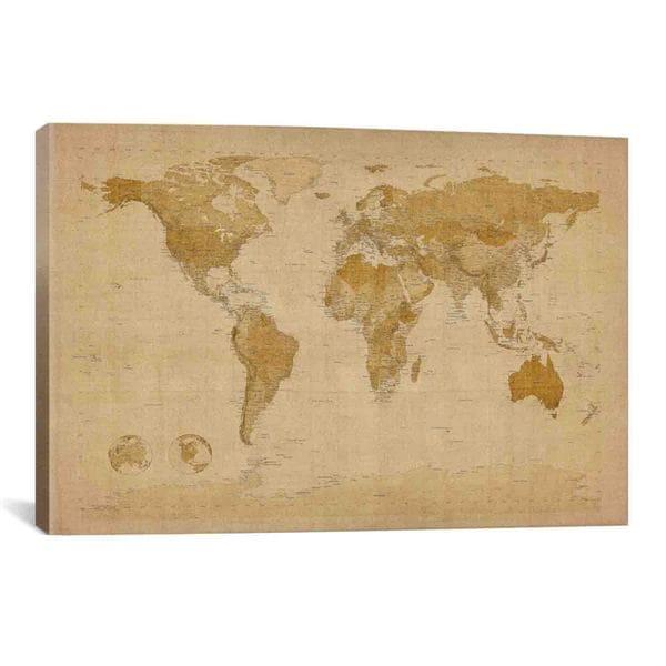Shop Icanvas Michael Thompsett Antique World Map Ii Canvas Print