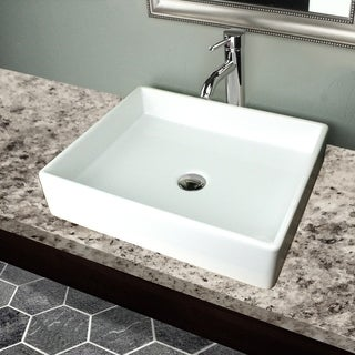 Highpoint Collection Vitreous China Rectangle Vessel Sink
