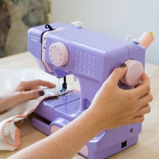 Janome Lady Lilac Basic, Easy-to-Use, 10-stitch Portable, 5 lb Compact Sewing Machine with Free Arm