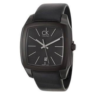 Calvin Klein Men's 'Recess' Stainless Steel Black PVD Coated Swiss Quartz Watch