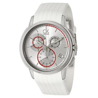 Calvin Klein Men's 'Drive' Stainless Steel Silver Dial Swiss Quartz Watch