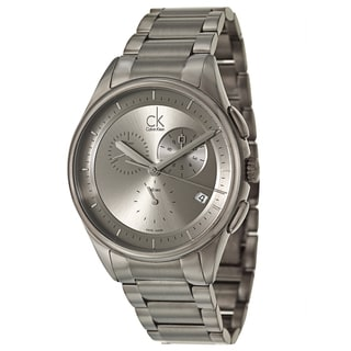 Calvin Klein Men's 'Basic' Stainless Steel Gray PVD Coated Swiss Quartz Watch