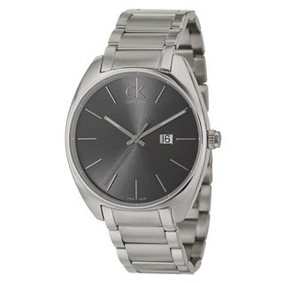 Calvin Klein Men's 'Exchange' Stainless Steel Dark Grey Dial Swiss Quartz Watch