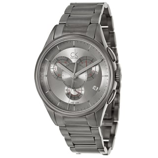 Calvin Klein Men's 'Basic' Stainless Steel Grey Swiss Quartz Watch