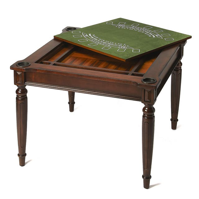 Transitional Square Multi - Game Card Table - Dark Brown