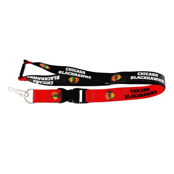 NHL Sports Team Logo Reversible Lanyard and Keychain Badge Holder
