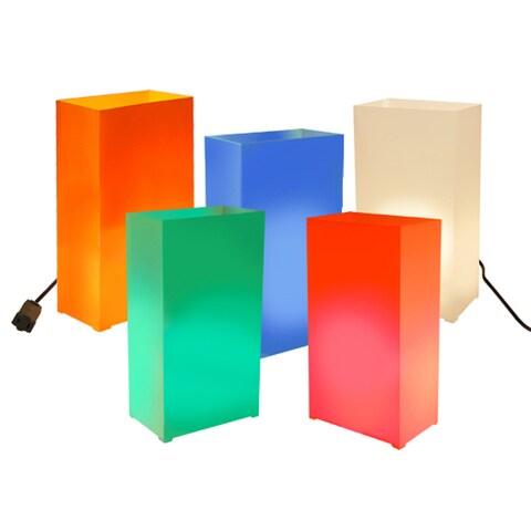 Electric Multi-color Luminaria Kit (Set of 10)