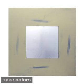 30-inch Distressed Box Mirror
