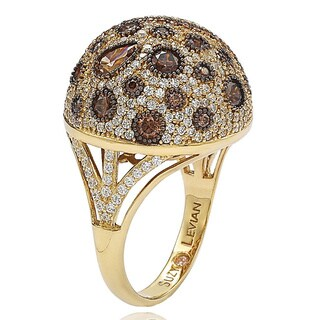 Suzy Levian Golden Sterling Silver Brown Cubic Zirconia Ring (More options available)
